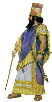 Babylonian king Nabopolassar The founder of the Neo-Babylonian Empire in the 7th century BC.