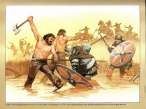Franks and Byzantine warriors at the Battle of Casilinum AD 554