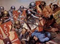 Legionarios en combate, Segunda Guerra Dacia, c. 105 d.C.