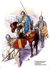 muslim turkish warriors of the Sultanate of Rûm during the siege of Konya from the Crusaders in 1205.