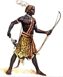 nubian archer of the Kingdom of Kush in 11th century BC