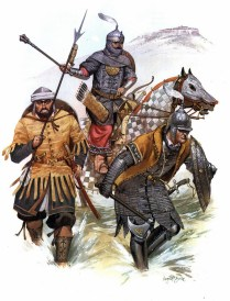 ottoman turkish warriors during the Fall of Constantinople in 1453 AD