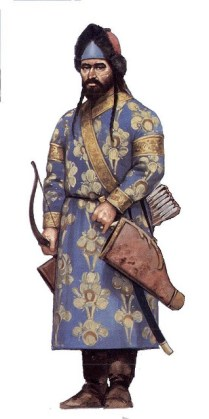 Turkish muslim warrior in the 12th century AD