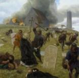 Norse marauders wreak mayhem at Clonmacnoise, Ireland.