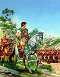 Alexander with his Army on the March