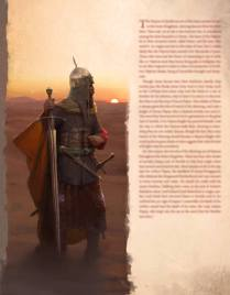 Layout test of my take on Arthur Dayne holding the sword Dawn as depicted in the George R.R. Martin´s Workd of Ice and Fire