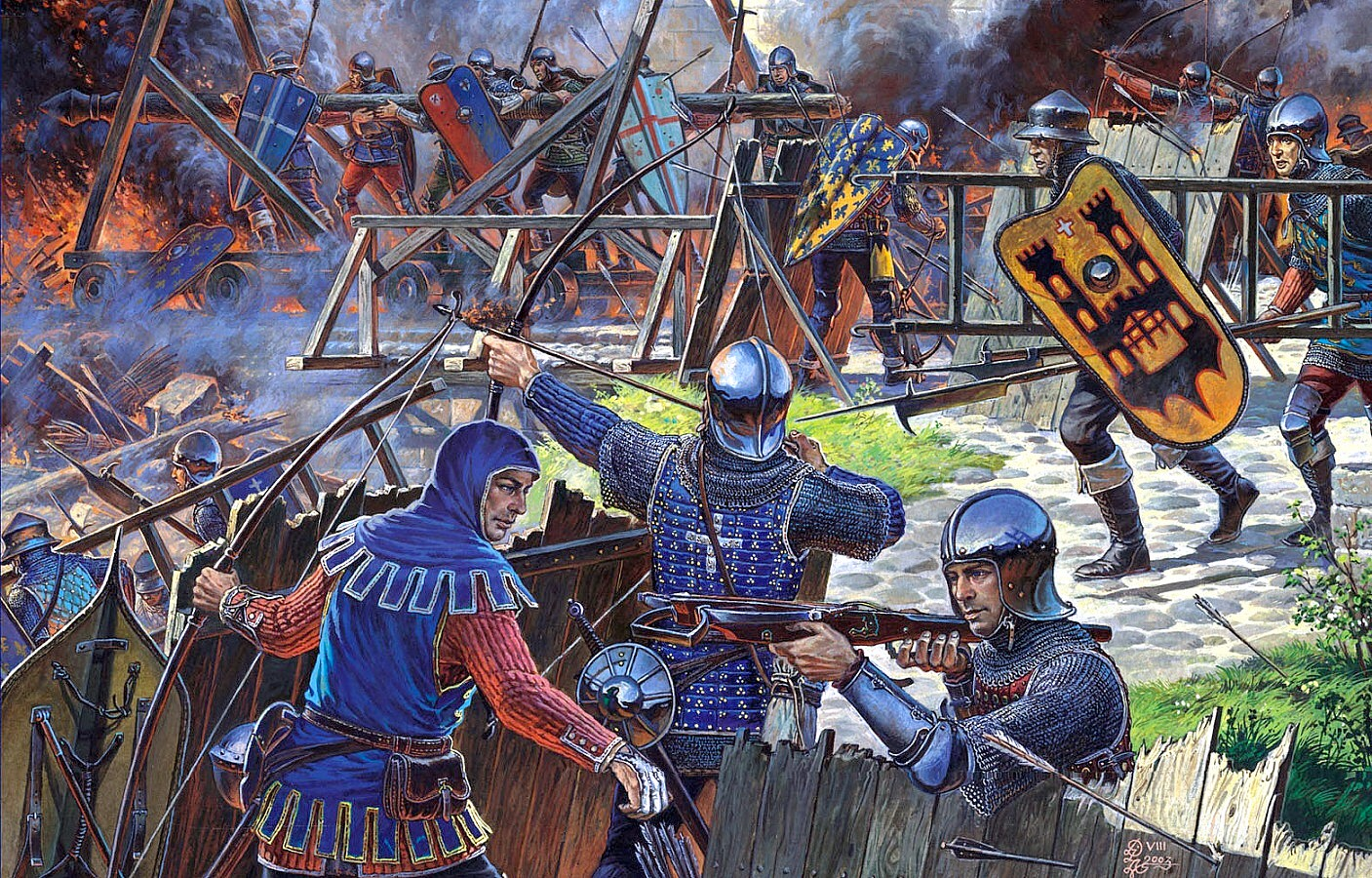 French Sol Rs Assaulting A Castle 100 Years War The