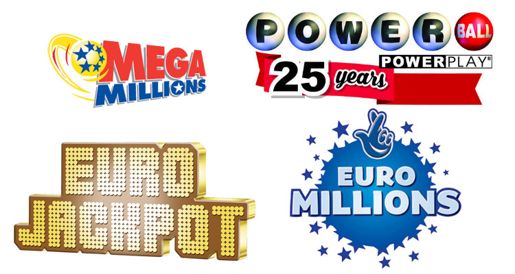 Logos of foreign lotteries