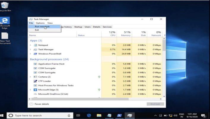 Critical error Your start menu isn't working error in windows 10