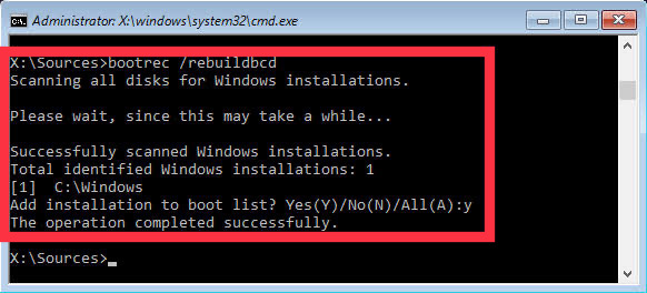 BSOD error Winload.Efi is missing or corrupted