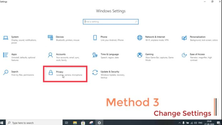 Microphone not recording voice in Xbox game bar windows 10 resetting your privacy settings