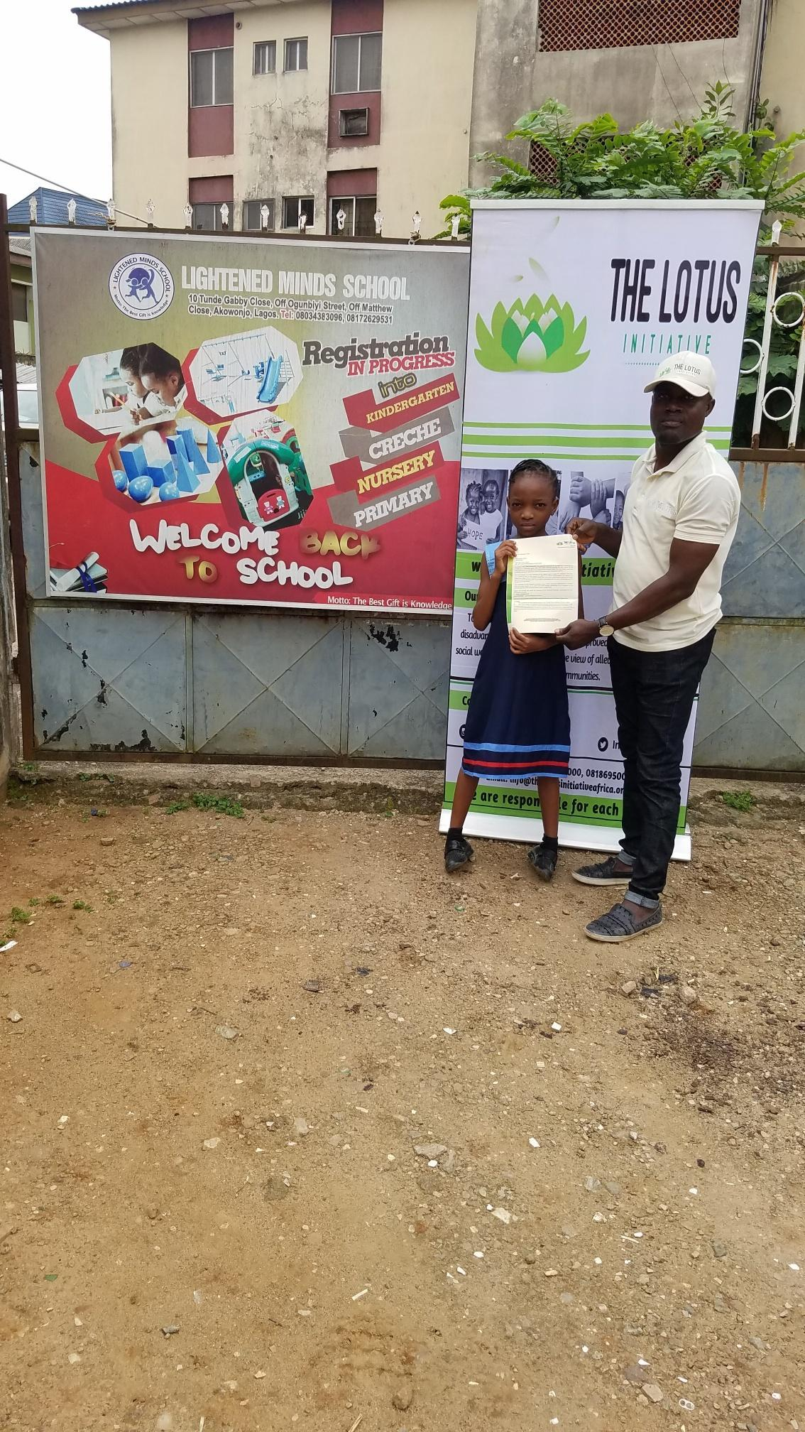 Lotus Initiative Program Manager with Miss. Joy Akaaba of Lightened Minds Private School