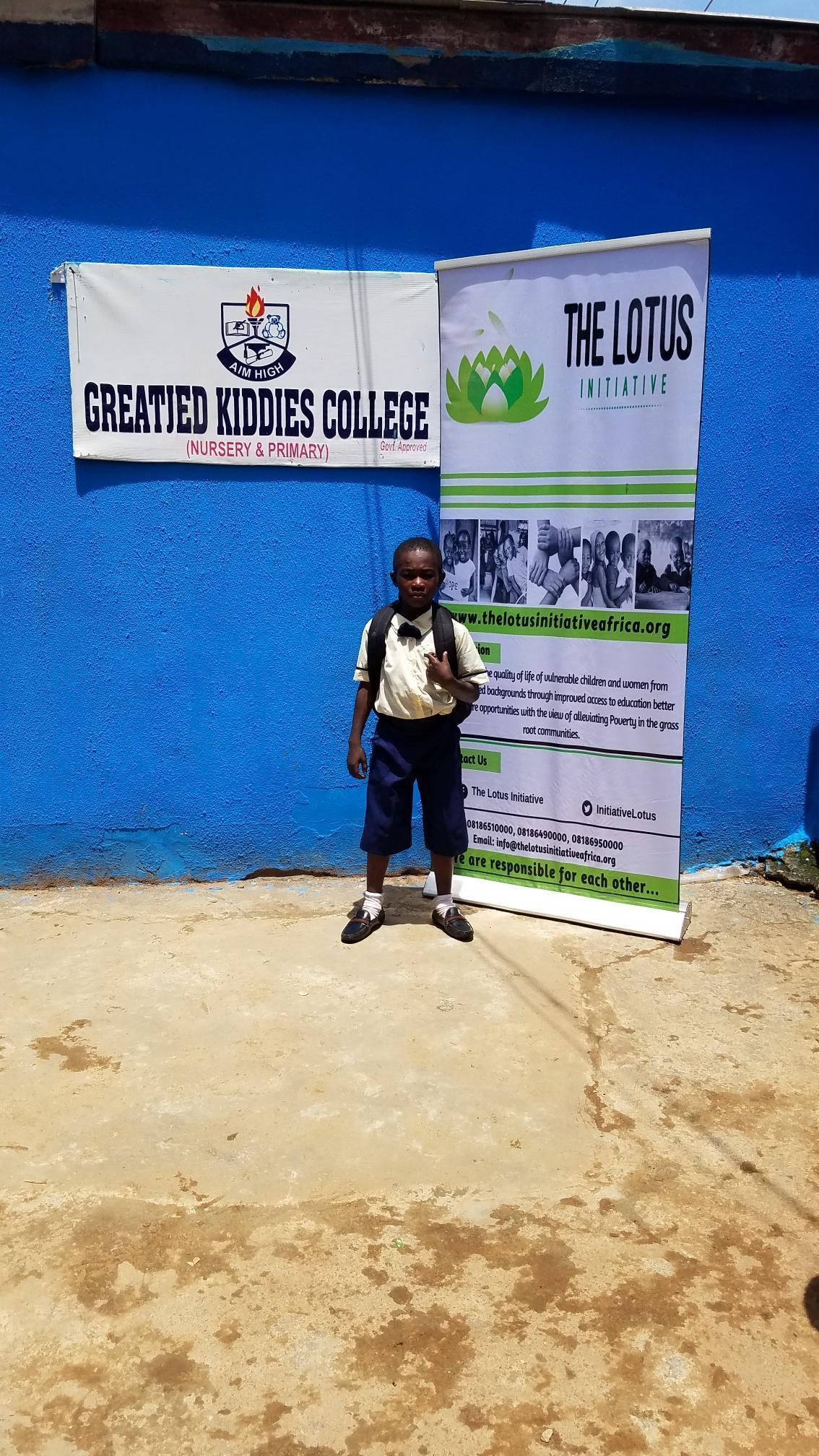 Lotus Scholar David Oyegoke of Greatied Kiddies College, Shasha, Lagos