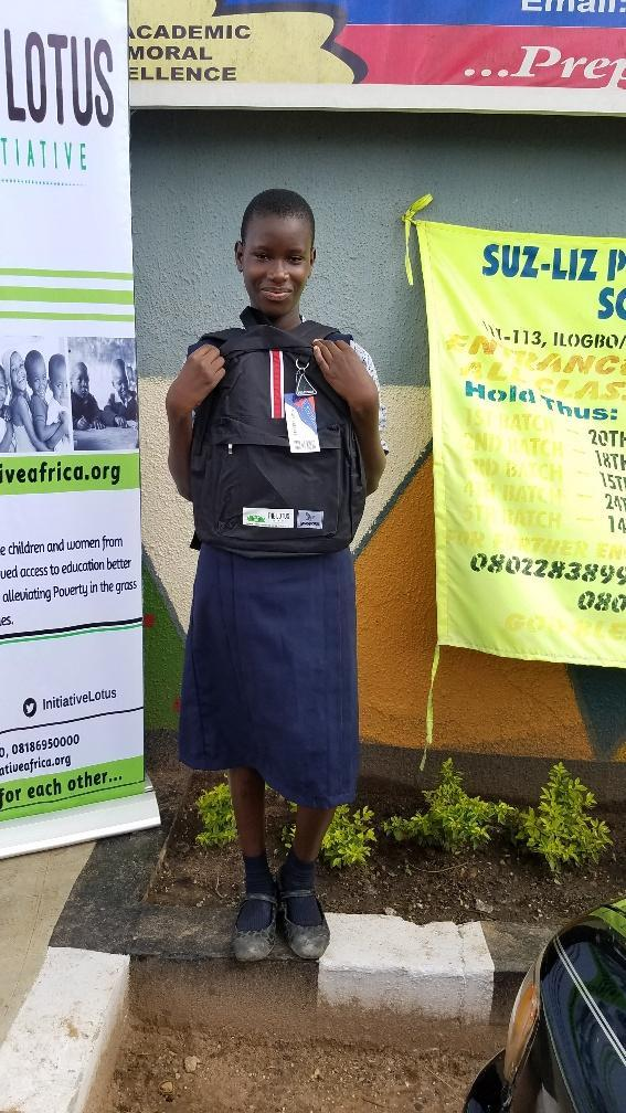 Lotus Scholar Miss. Loveth Eyitayo of Suz-liz Group of Schools