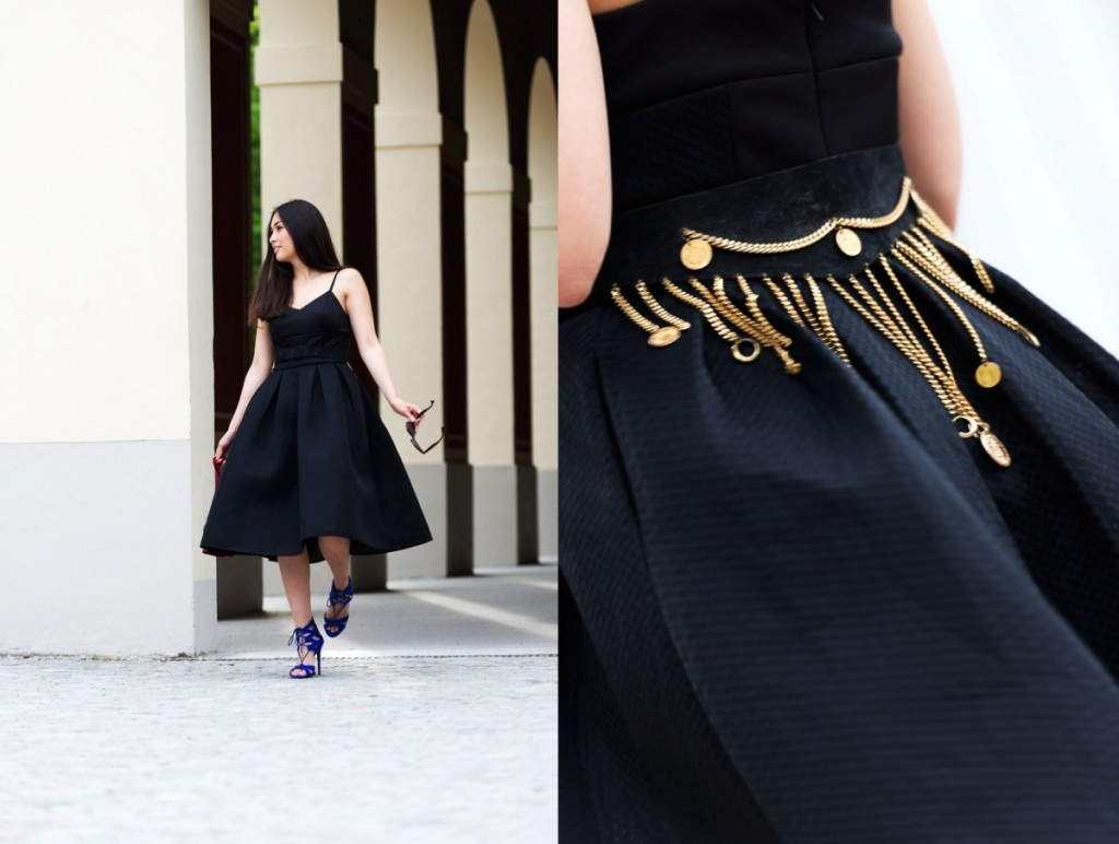 Italian Flair Streetstyle Midi Dress Elegant Chic Fashionblog Munich Cover