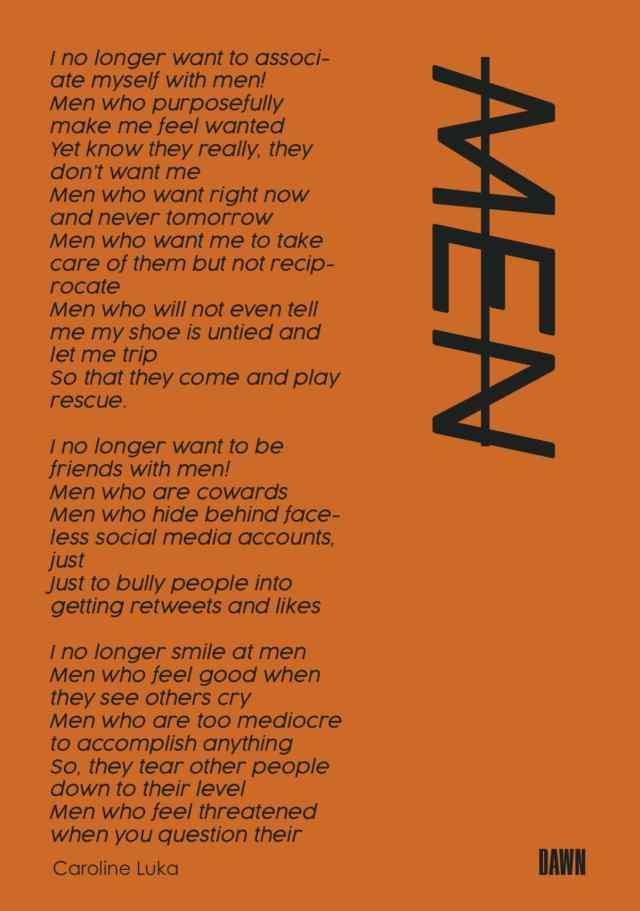 The Failed Poet: Men