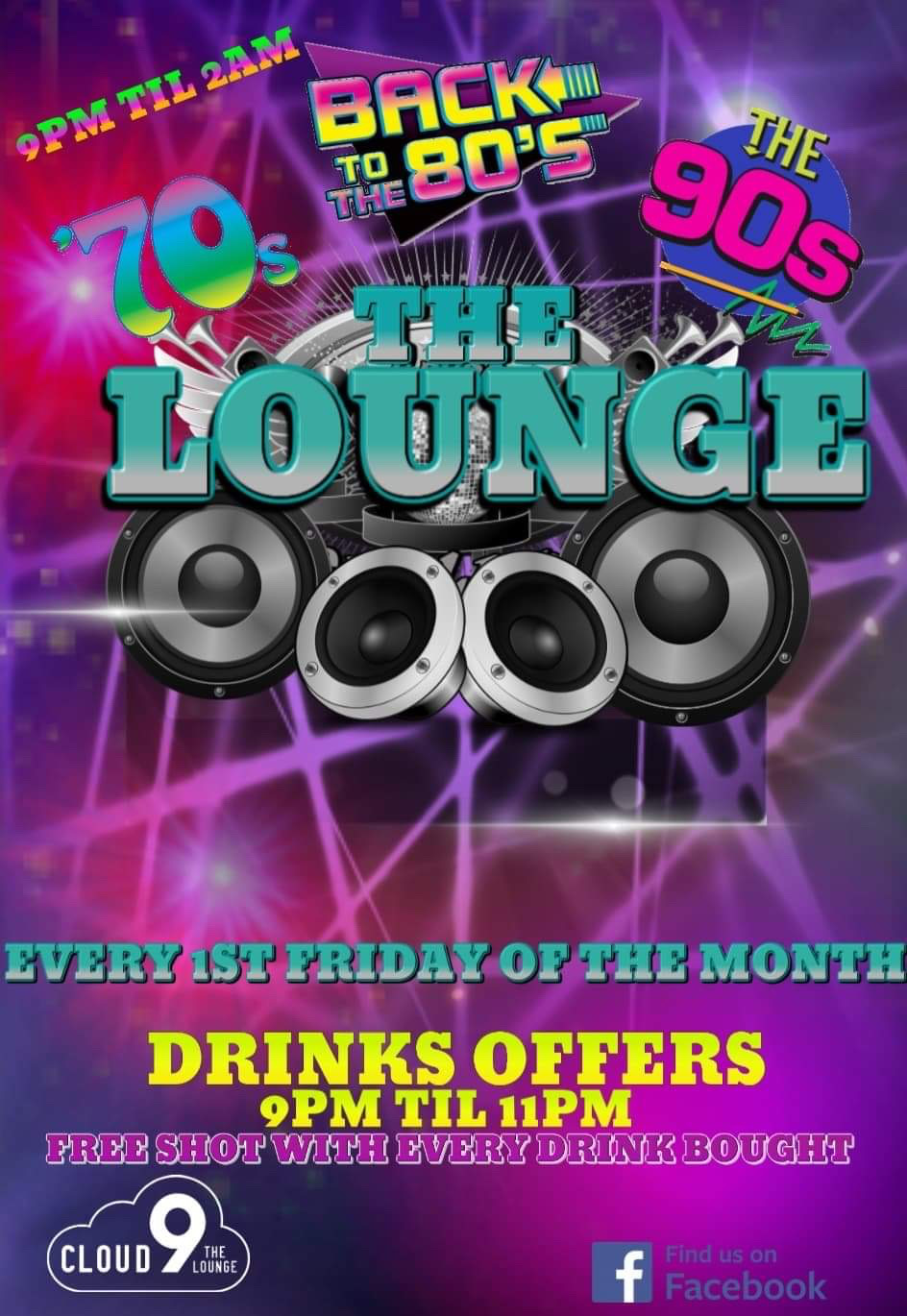 70s, 80s and 90s Night @ The Lounge