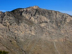 Limestone layers, Guadalupe Mountains.