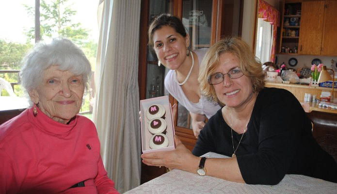 Me with my mom and grandma on Mother's Day 2010