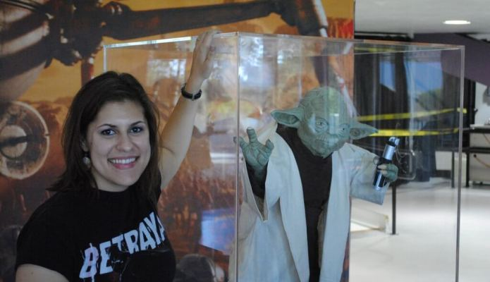 Me with Yoda at Star Wars in Concert