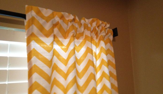 Chevron Curtains from SeamsSewBeautiful on Etsy