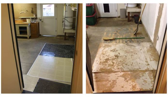 Before and After of the Garage Floor