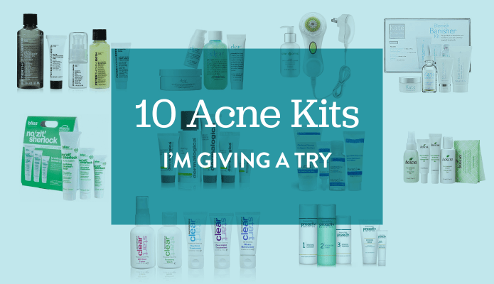 10 Acne Kits I'm Giving a Try #thelovelygeek