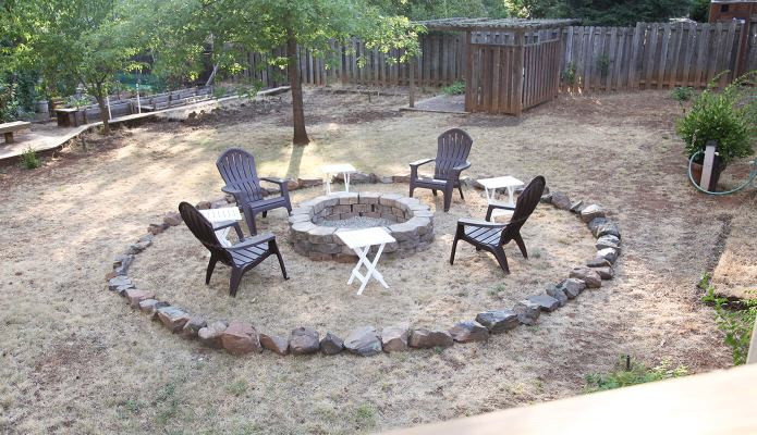 Old backyard fire pit