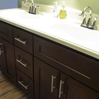 New vanity and handles in the master bathroom