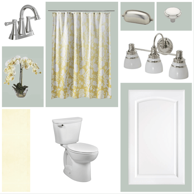 Guest Bathroom Moodboard #thelovelygeek