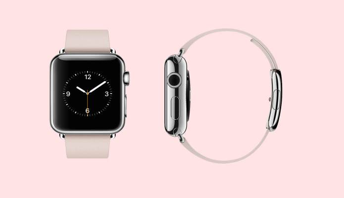 Apple Watch 38mm Stainless Steel Case with Soft Pink Modern Buckle #thelovelygeek