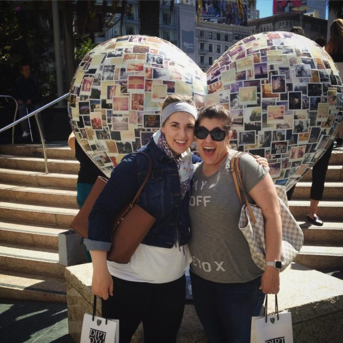 Shopping in SF with my sister #thelovelygeek