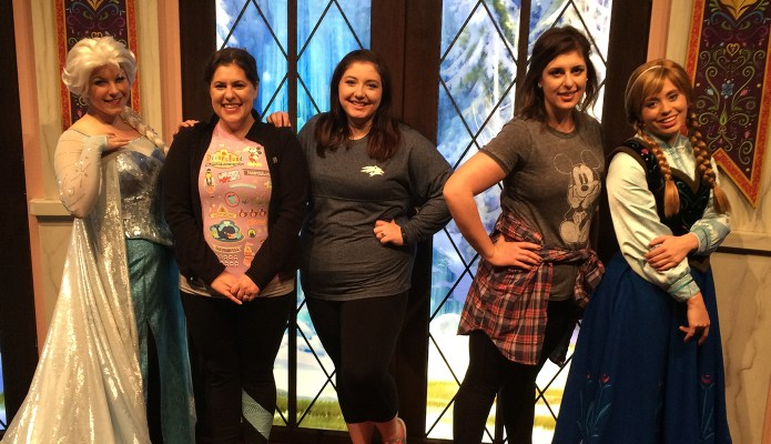 Meeting Elsa and Anna at Disneyland