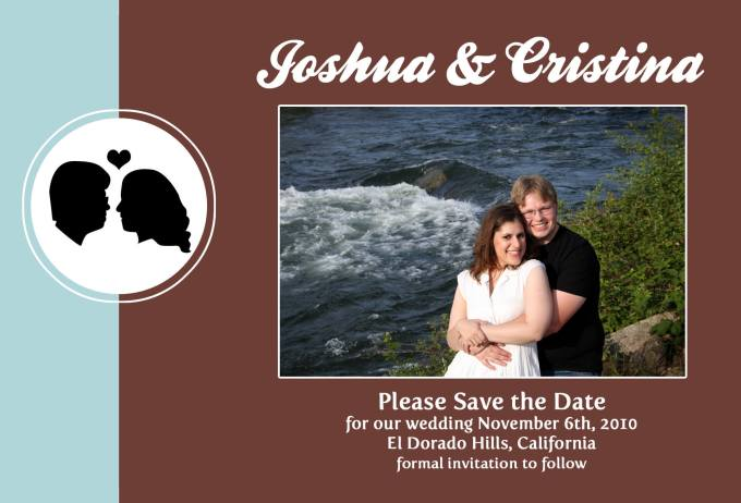 Our Save-the-Date card