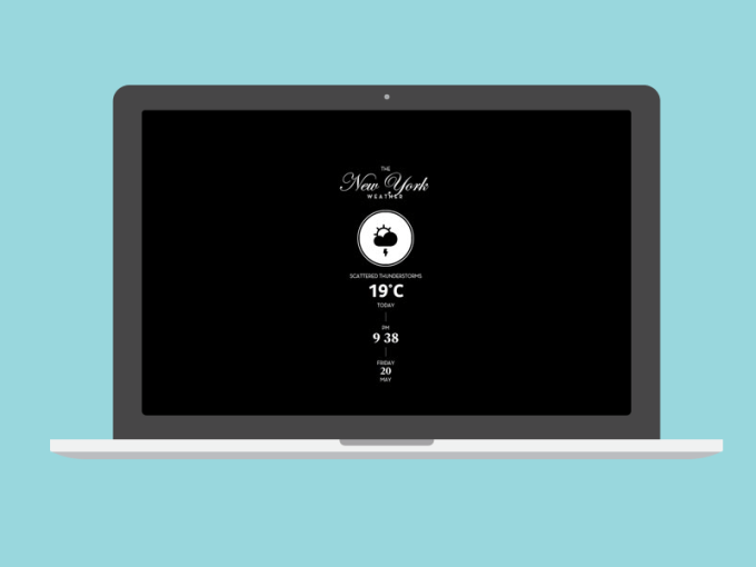 The Weather, City Edition Screen Saver