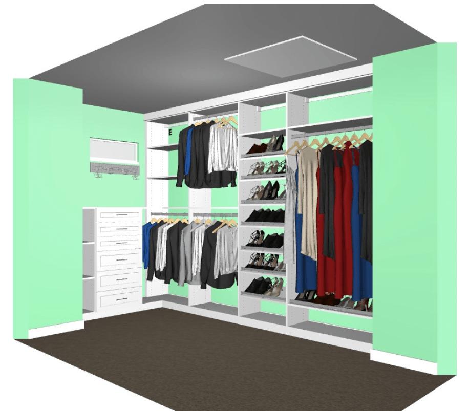 Closet rendering from CA Closets