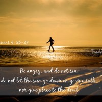 Be angry . . . do not sin!