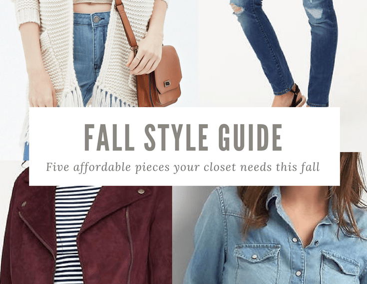 Affordable Fall Fashion, Five Pieces Your Closet Needs, Each Under $90!
