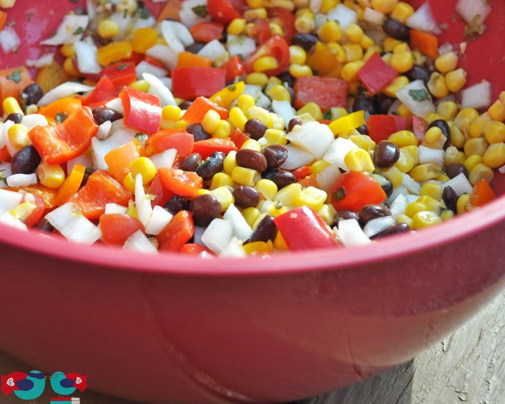 Zesty Summer Salsa with Lots of Fresh Ingredients! {The Love Nerds} #summersalsa #cornsalsa