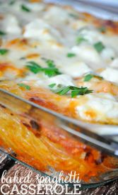 Baked Spaghetti Casserole Recipe - A family favorite dinner idea that everyone will love! | The Love Nerds