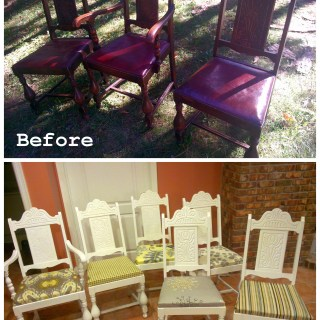 My Second-hand dining room & chair makeover