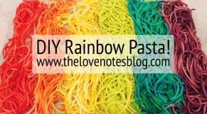 diy rainbow pasta
