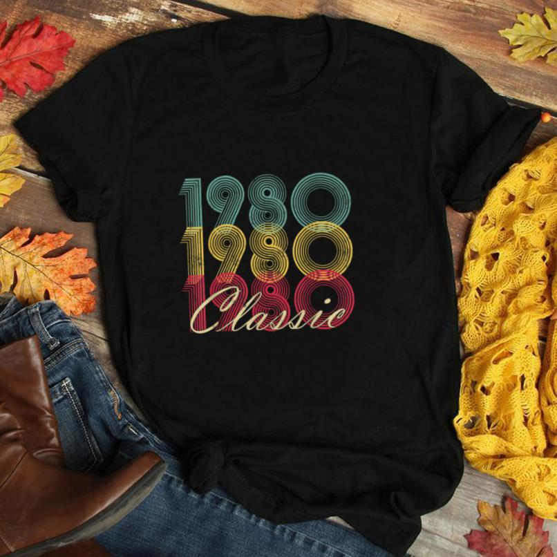 40th Birthday Gift Vintage 1980 Classic 40 Years Old Born T Shirt