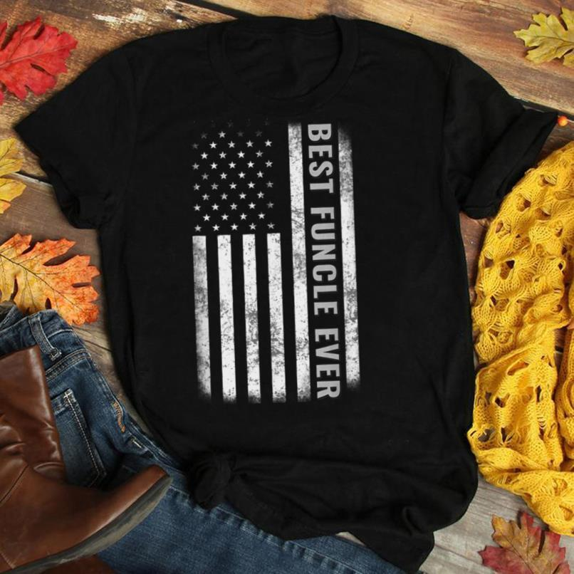 Best Funcle Ever Vintage American Flag Tee Father's Day Gift T Shirt