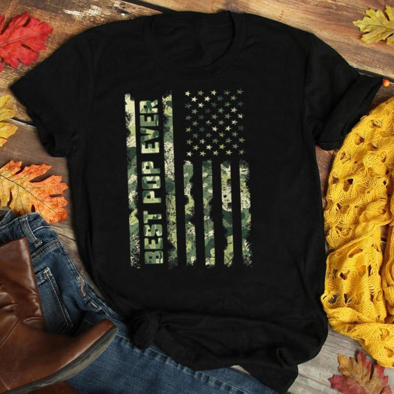 Best Pop Ever American Flag Camo Shirt Fathers Day Gifts Tee