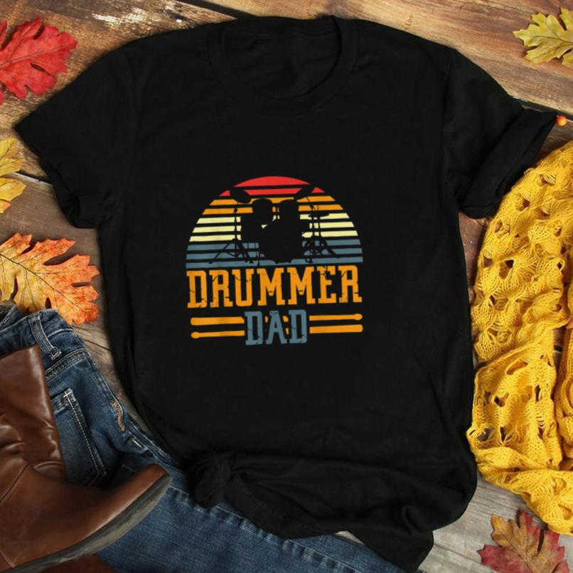 Drummer Dad Happy Father's Day Celebration Music Drum T Shirt