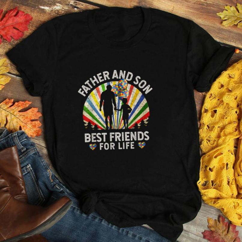 Father and Son Best Friends For Life Autism Awareness T Shirt