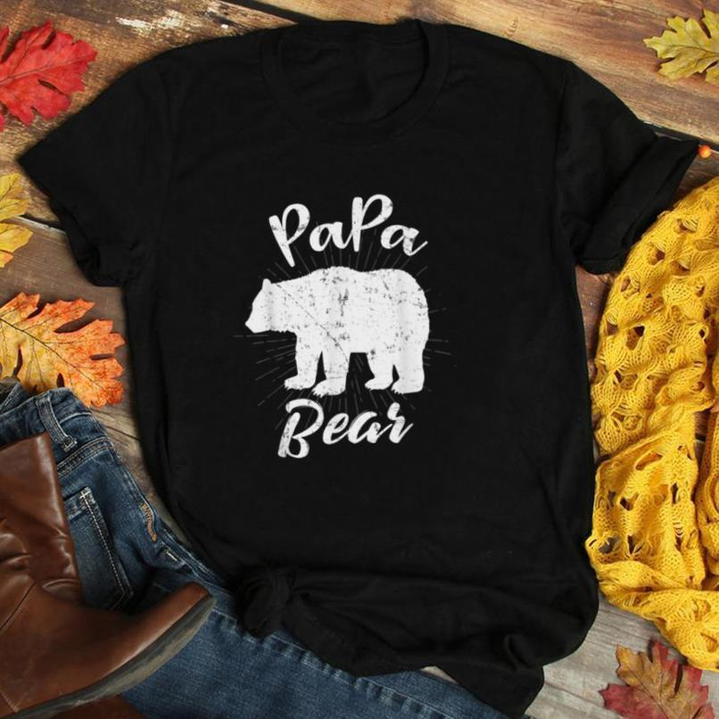 Graphic 365 Papa Bear Tee Great Fathers Day Gift T Shirt