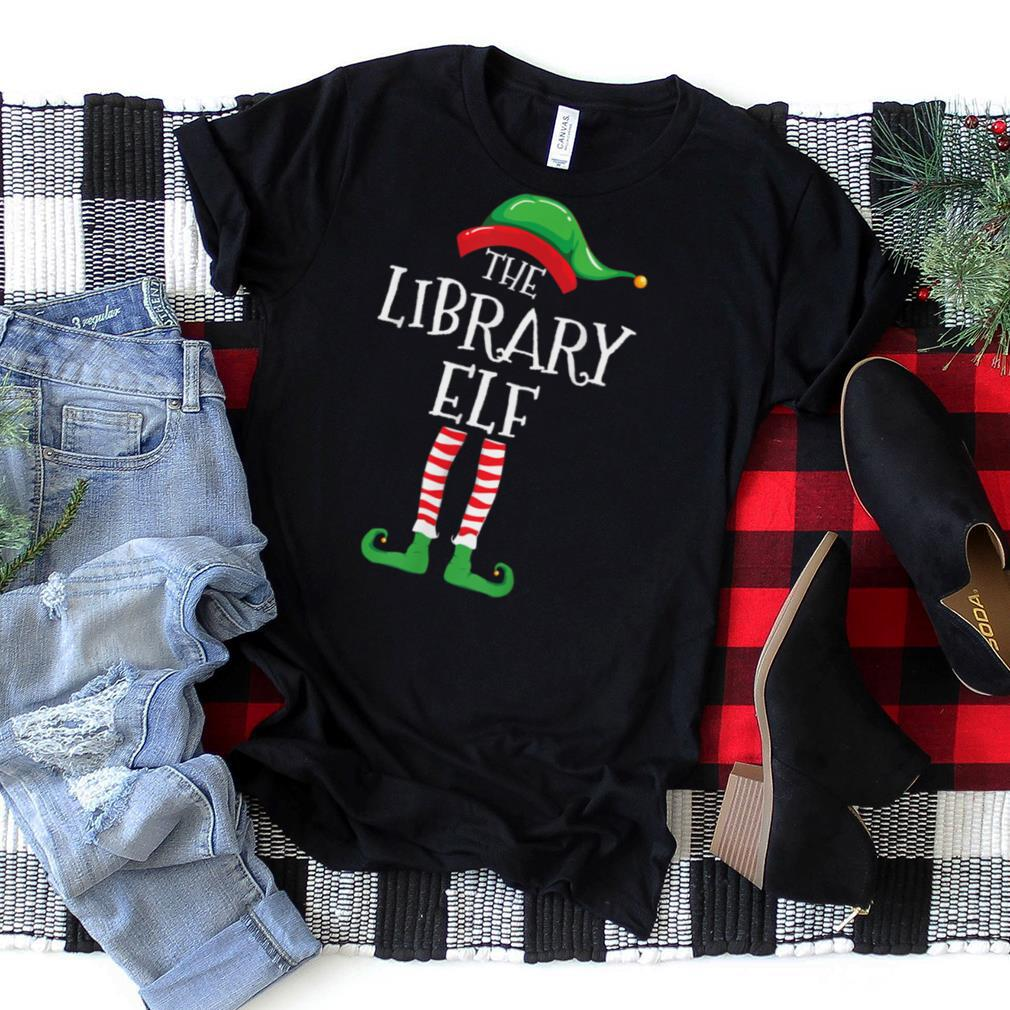 Library ELF Family Matching Group Christmas Gift Book Lover T Shirt