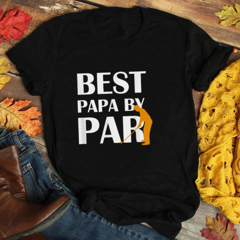 Mens Best Dad By Par Father's Day Golfer Daddy Clothing T Shirt
